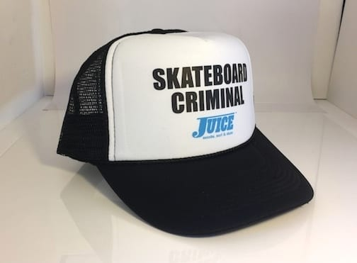 Skateboard Criminal Hat White