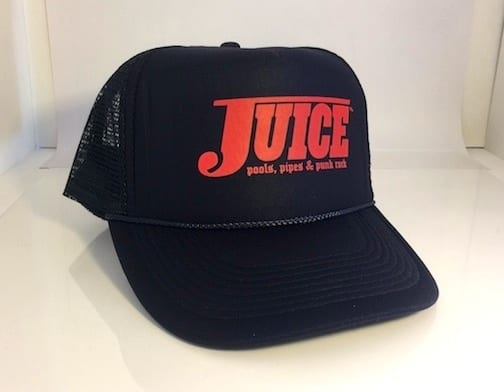 Juice Pools Pipes and Punk Rock Hat Navy Blue