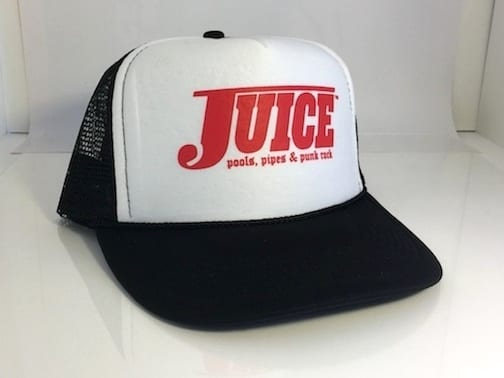 Juice Pools Pipes and Punk Rock Hat White