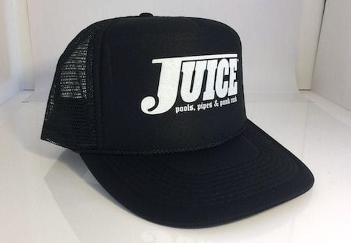 Juice Pools Pipes and Punk Rock Hat White Lightning