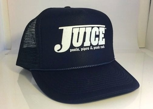 Juice Pools Pipes and Punk Rock Blue Lightning Hat