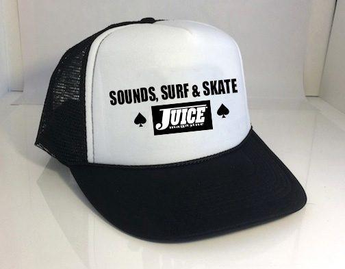 Juice Mag Sounds Surf Skate Hat White