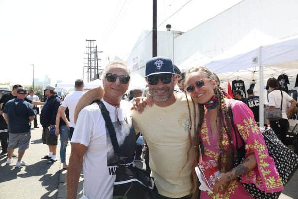 Herbie Fletcher, Robert Trujillo and Chloe Trujilo. Photo by Dan Levy © Juice Magazine