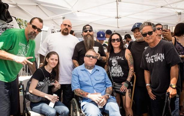 Jason Brown of S.T. Tattoo and friends @beyondthestreetsart Photo by VenicePaparazzi.com