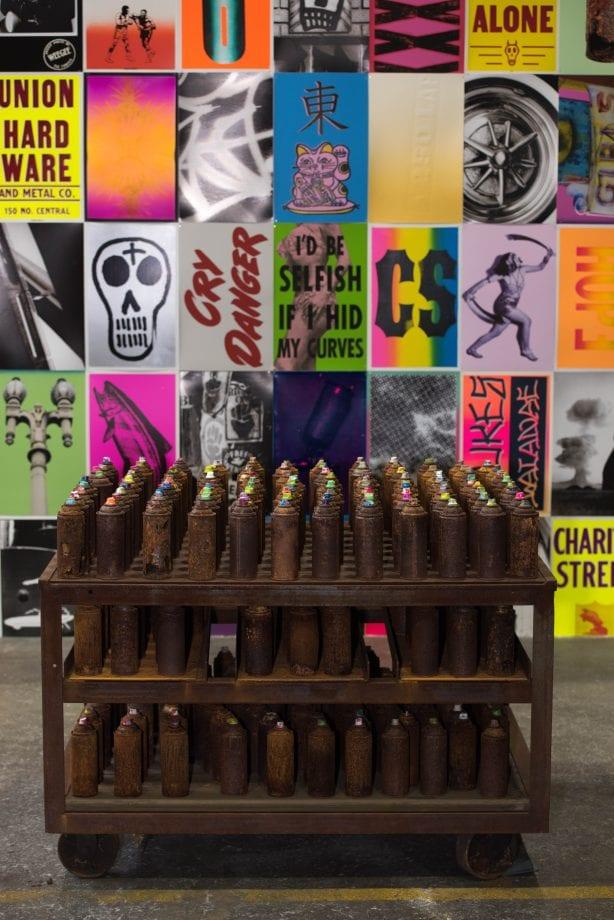 C.R. Stecyk III installation @beyondthestreetsart Photo by Chris Hooten