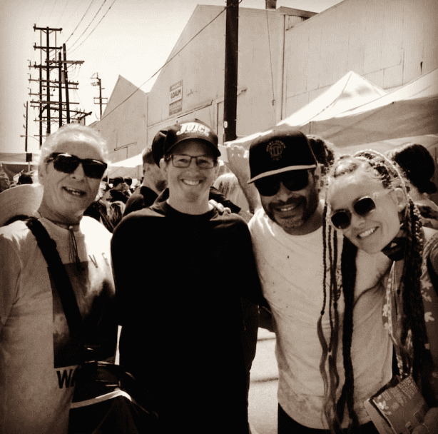 Herbie Fletcher, Dan Levy, Robert Trujillo, Chloe Trujillo. Photo by Ernest Brown.