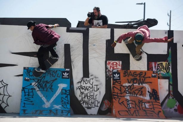 Mike Miller shooting Christian Hosoi and Eric Britton. Photo by Chris Hooten