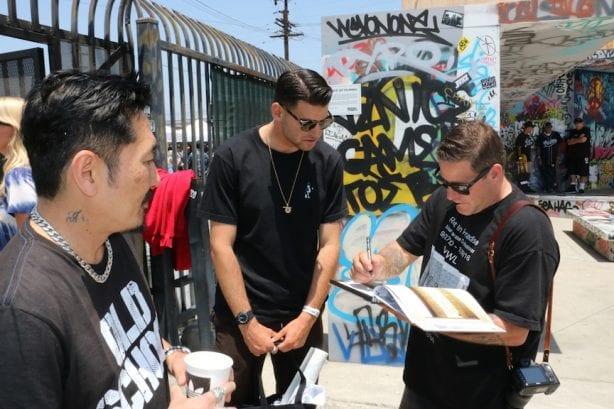 Bagel signing.Photo by Kelly Jackson