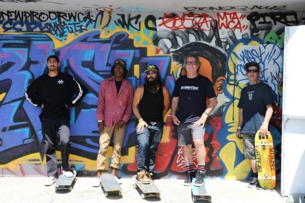 "Vincent Luevanos, Eric ""Tuma"" Britton, Bennett Harada, Jim Gray, Knuckles.Photo by Kelly Jackson"