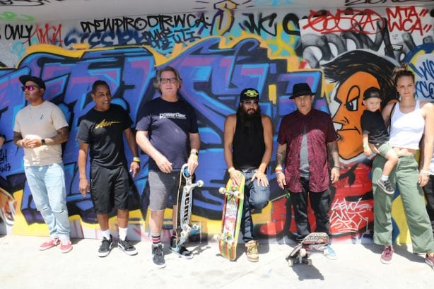Marty Grimes, Jim Gray, Bennett Harada, Christian Hosoi. Photo by Kelly Jackson