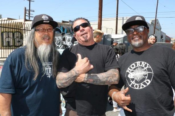 Jeff Ho, Gary Gonzales, and Caviar. Photo By Kelly Jackson