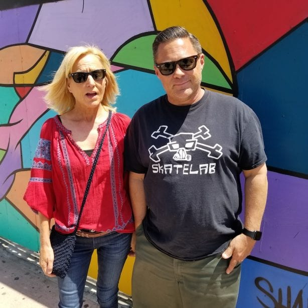 Jennifer and Todd Huber at Beyond The Streets. Photo by Heidi Lemmon
