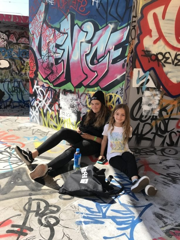 Venice Adams (Jay Adams daughter) and Villyn Vaughn. Photo by Dan Levy © Juice Magazine
