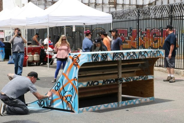 """Jayme """"Vision"""" Burtis hits up the ramps. Photo by Kelly Jackson"""