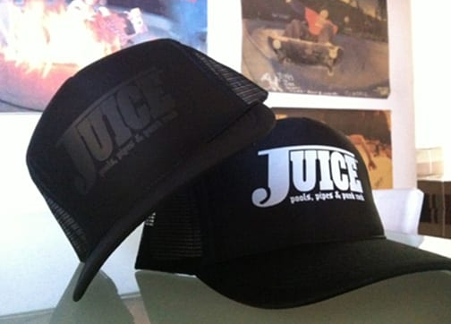 Juice Pools Pipes and Punk Rock Hat