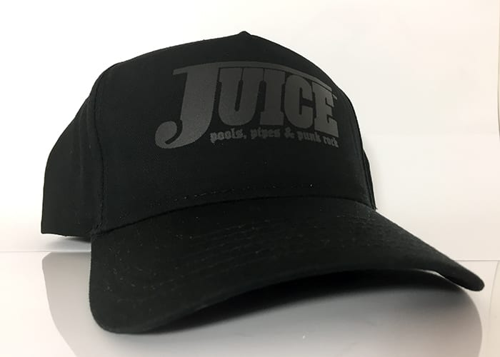 Baseball Hat Black - Stealth - Juice Pools Pipes And Punk Rock