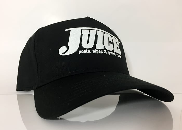 Baseball Hat Black - White Lightning - Juice Pools Pipes And Punk Rock