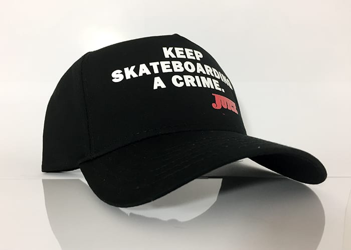 Baseball Hat Black - Keep Skateboarding A Crime