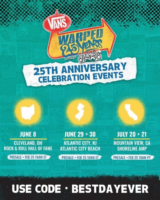 Vans Warped Tour 25 Years