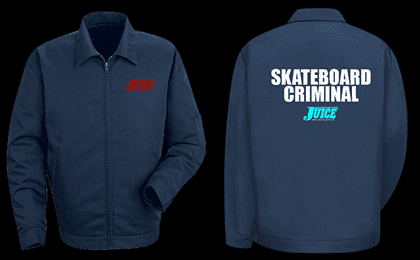 JUICE SKATEBOARD CRIMINAL JACKET