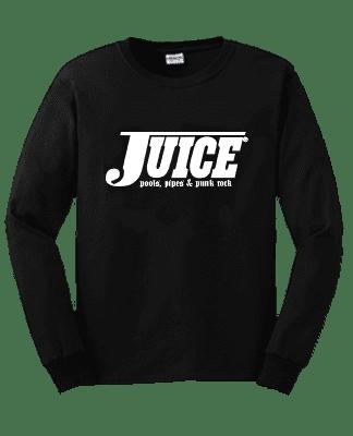 Juice Pools Pipes and Punk Rock Long Sleeve Tshirt Black Lightning