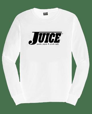 Juice Pools Pipes and Punk Rock Long Sleeve Tshirt White Hesh