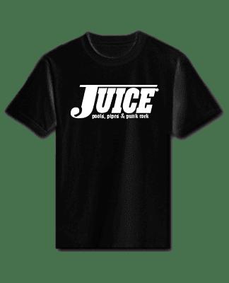 Juice Pools Pipes and Punk Rock Short Sleeve Tshirt Black Lightning