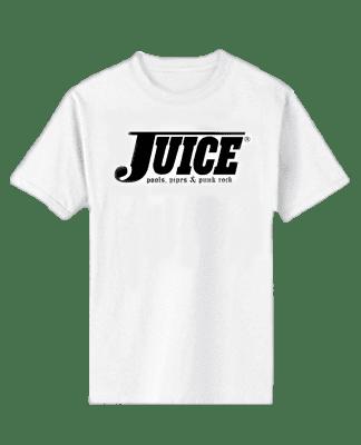 Juice Pools Pipes and Punk Rock Short Sleeve Tshirt White Hesh