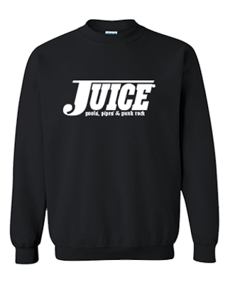 Juice Pools Pipes and Punk Rock Crewneck Sweatshirt Black Lightning