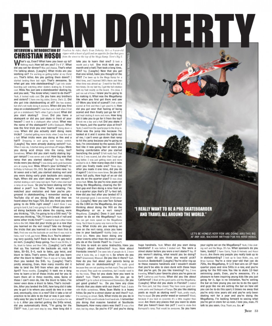 EVAN DOHERTY