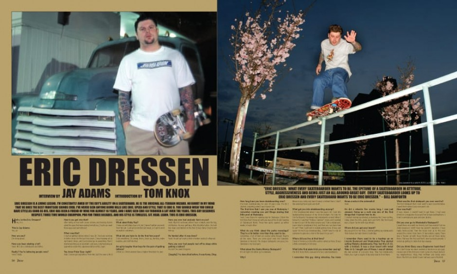 ERIC DRESSEN photos by RIP and Theo.