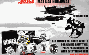 Bones Wheels May Day Giveaway