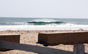 The peaks along Playa Colorado at Hacienda Iguana offer left- and right-hand options, with barrels and sections for big turns or the occasional aerial. Photo: NicaSurfing.com/ Matt Belvins