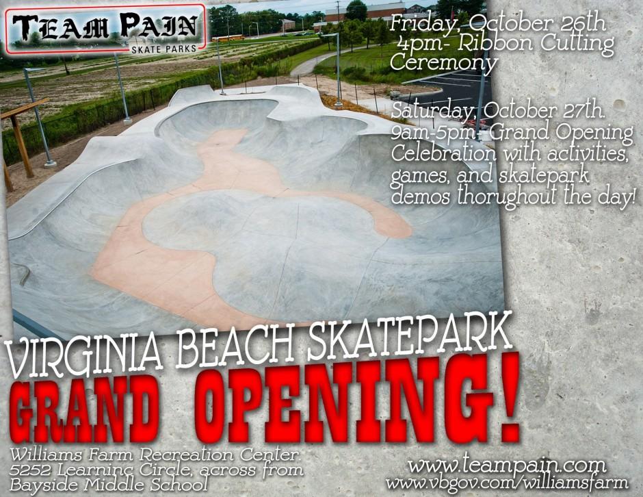 TEAM PAIN presents Virginia Beach Skatepark Opening