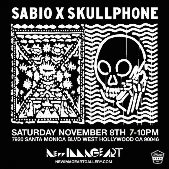 Sabio and Skullphone art show entitled Ombre at New Image Art Gallery