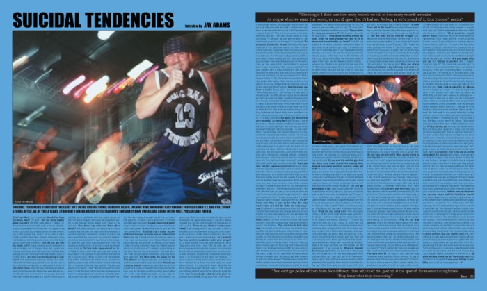 SUICIDAL TENDENCIES photos by Pat Myers and Ryan Tate