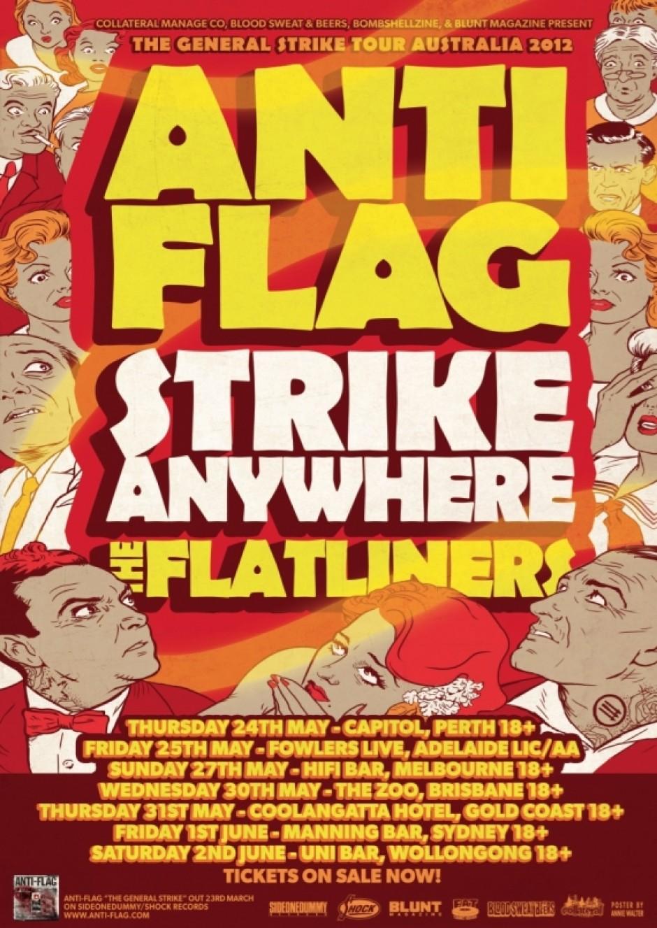Anti Flag Strike Anywhere Flatliners Australia Tour 2012