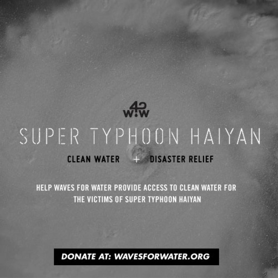 Super Typhoon Haiyan Clean Water & Disaster Relief