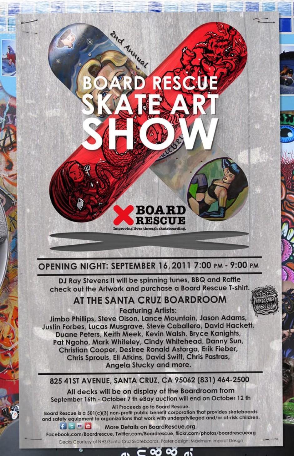Board Rescue Skate Art Show