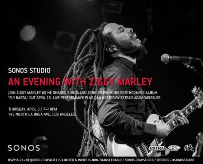 An Evening with Ziggy Marley at Sonos Studio
