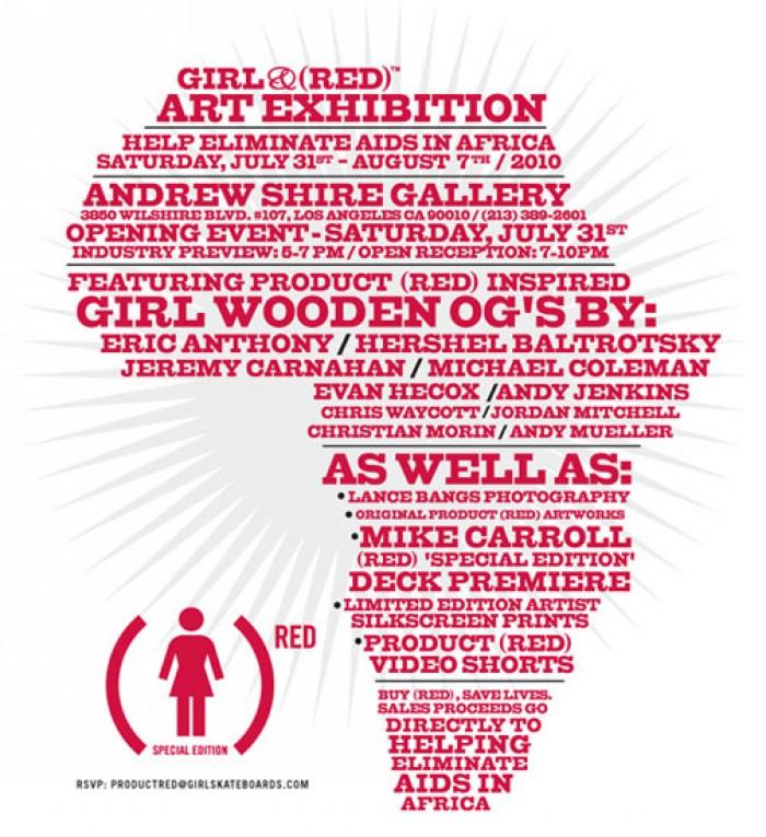 GIRL X RED ART EXHIBITION INVITATION
