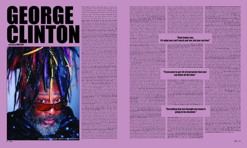 GEORGE CLINTON photo by Marcy G