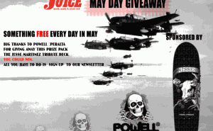Powell-Peralta Jesse Martinez Tribute Deck Giveaway