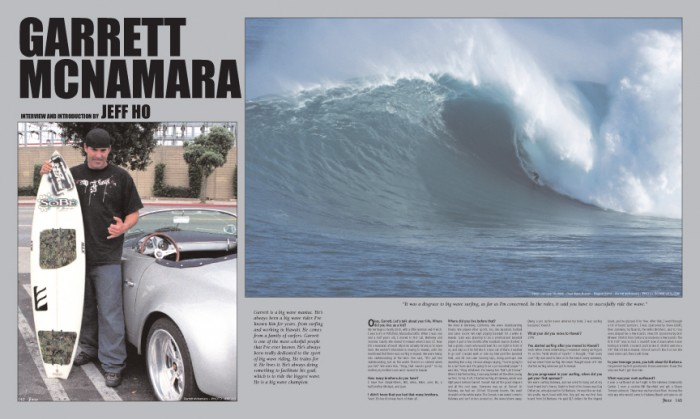 GARRETT MCNAMARA photos by Jeff Ho and Bo Bridges