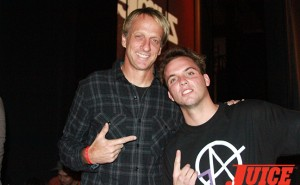 Tony Hawk and Seven Adams. Photo by Dan Levy