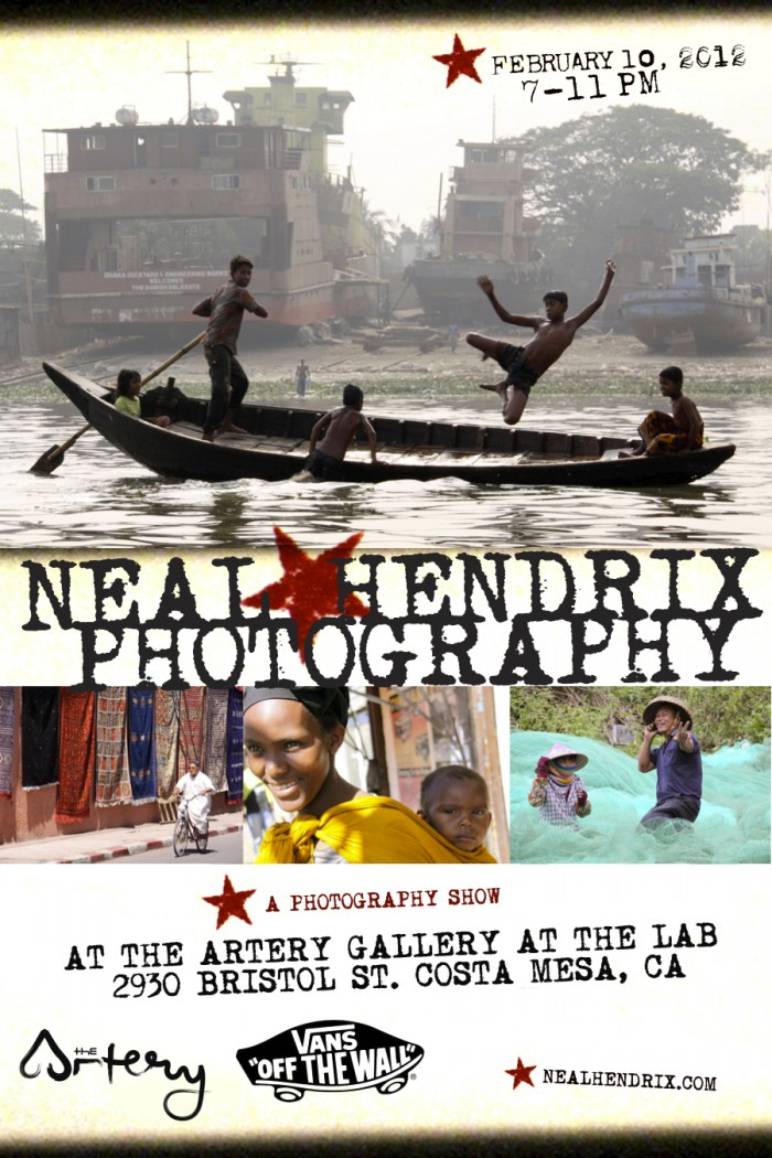 Neil Hendrix Photography at the Artery Gallery in Costa Mesa