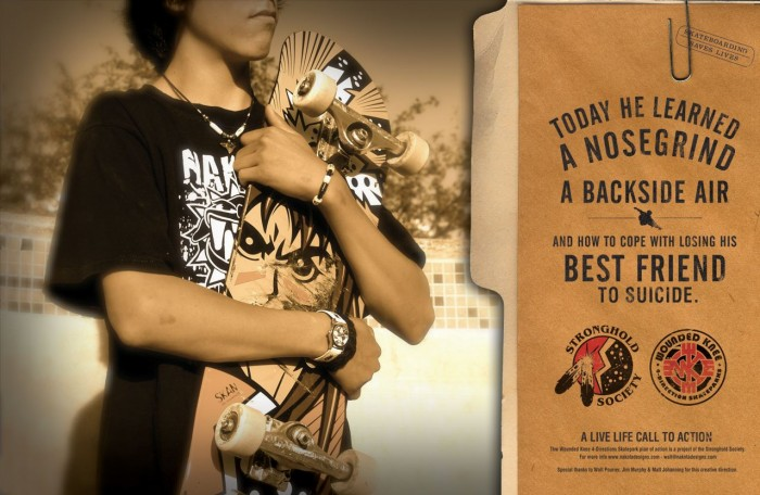 New Wounded Knee Skateboards Black Elk Deck