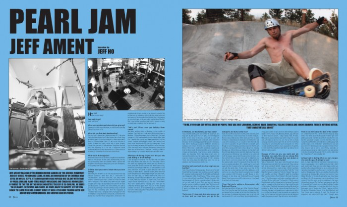 PEARL JAM: JEFF AMENT photos by Adam Lund and Jeff Ament.