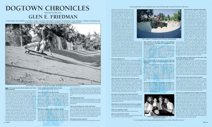 DOGTOWN CHRONICLES - GLEN E. FRIEDMAN