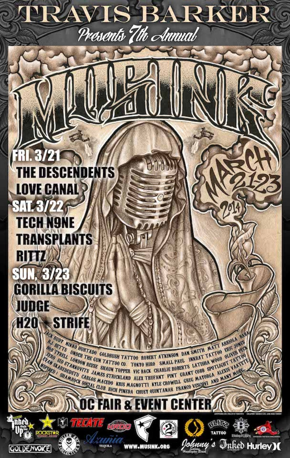 7th Annual Musink Tattoo & Music Festival